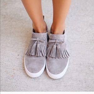 Kate Spade Gray Lenna Tassel Sneaker